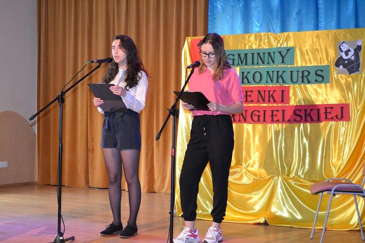 Zespół Szkół w Chorzelowie  XI GMINNY KONKURS PIOSENKI ANGIELSKIEJ