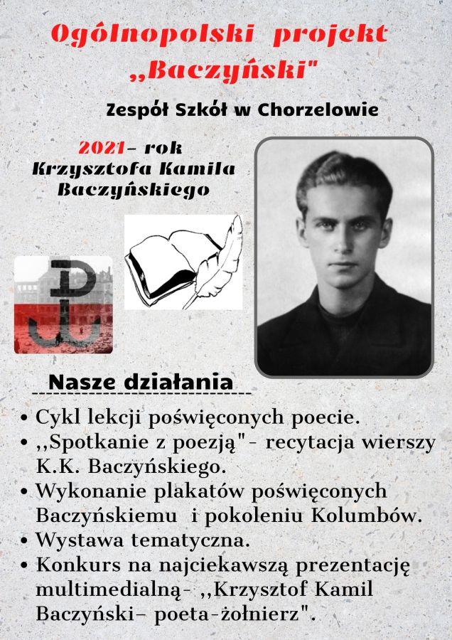 Zespół Szkół w Chorzelowie Projekt 'Baczyński'