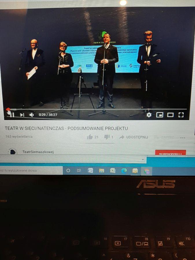 Zespół Szkół w Chorzelowie Nagroda dla uczniów kl. 7c - uczestników warsztatów teatralnych online!